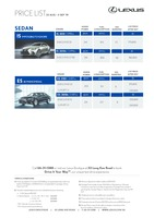 lexus Price List 8-22-2019 Page 1