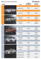 lexus Price List 7-1-2020 Page 1