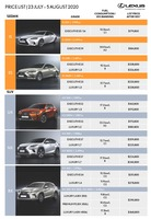 lexus Price List 7-23-2020 Page 1