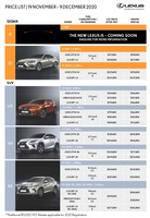 lexus Price List 11-23-2020 Page 1