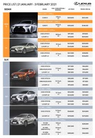 lexus Price List 1-21-2021 Page 1