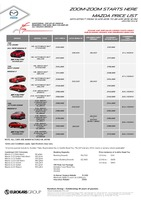 mazda Price List 4-13-2015 Page 1