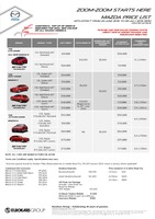 mazda Price List 6-23-2015 Page 1