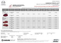 mazda Price List 10-9-2015 Page 1