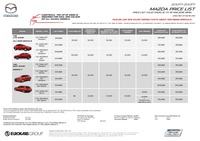 mazda Price List 2-12-2016 Page 1
