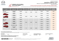 mazda Price List 4-26-2016 Page 1