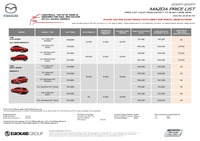 mazda Price List 5-11-2016 Page 1