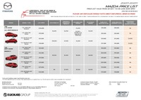 mazda Price List 5-30-2016 Page 1