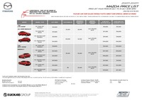 mazda Price List 7-22-2016 Page 1