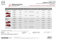 mazda Price List 8-11-2016 Page 1