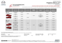 mazda Price List 2-24-2017 Page 1