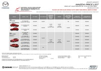 mazda Price List 7-21-2017 Page 1