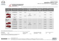 mazda Price List 8-11-2017 Page 1