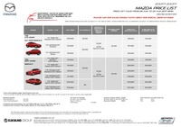 mazda Price List 8-23-2017 Page 1