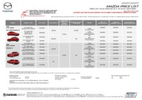 mazda Price List 10-20-2017 Page 1
