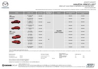 mazda Price List 2-14-2018 Page 1