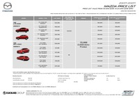 mazda Price List 3-19-2018 Page 1