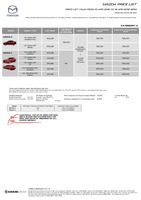mazda Price List 4-12-2018 Page 1