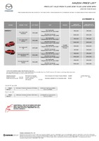 mazda Price List 6-11-2018 Page 1