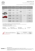 mazda Price List 7-13-2020 Page 1