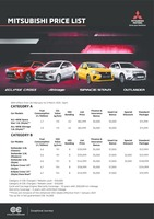 mitsubishi Price List 2-26-2021 Page 1