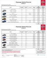 nissan Price List 6-23-2016 Page 1