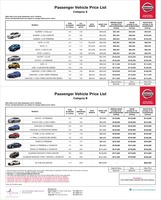 nissan Price List 9-23-2016 Page 1