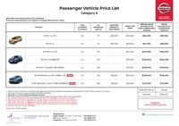 nissan Price List 10-5-2017 Page 1