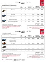nissan Price List 6-21-2018 Page 1