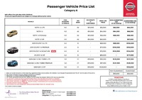 nissan Price List 5-11-2019 Page 1