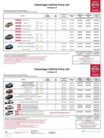 nissan Price List 9-5-2019 Page 1