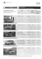 opel Price List 3-19-2015 Page 1