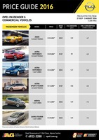 opel Price List 7-21-2016 Page 1