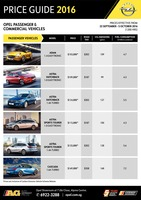 opel Price List 9-22-2016 Page 1