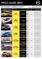 opel Price List 7-19-2017 Page 1