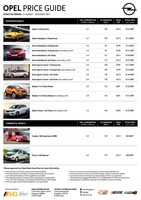 opel Price List 8-11-2017 Page 1