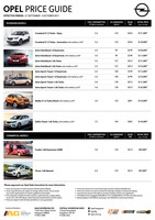 opel Price List 9-21-2017 Page 1