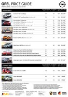 opel Price List 12-8-2017 Page 1