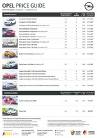 opel Price List 2-8-2018 Page 1