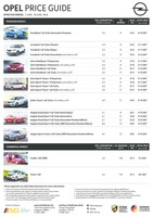 opel Price List 6-7-2018 Page 1