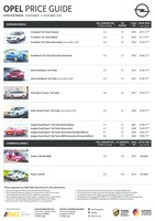 opel Price List 11-10-2018 Page 1