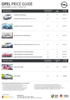 opel Price List 1-23-2020 Page 1
