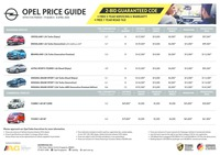 opel Price List 3-19-2020 Page 1