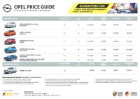 opel Price List 11-23-2020 Page 1