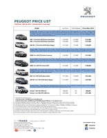 peugeot Price List 4-17-2015 Page 1