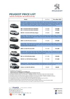 peugeot Price List 5-21-2015 Page 1