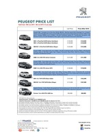 peugeot Price List 6-18-2015 Page 1