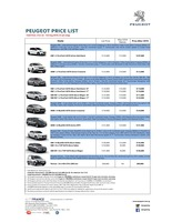 peugeot Price List 7-21-2016 Page 1