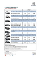 peugeot Price List 9-23-2016 Page 1
