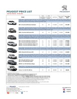 peugeot Price List 11-24-2016 Page 1
